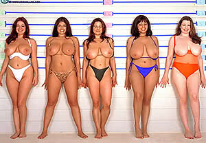 Old-School Big-Boob Line-Up
