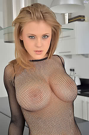 Viola Bailey loves fishnets