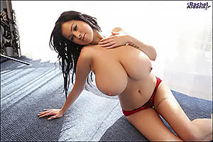 Rachel Aldana definitely has huge boobs