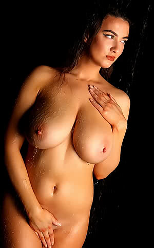 Joey Fisher in the shower