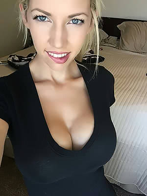 Black top & biting lip
