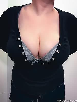 dive in to my wife's cleavage