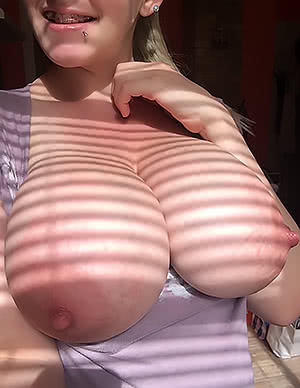 Sun Striped Titties