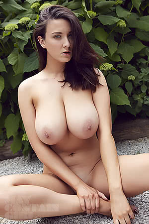 Joey Fisher in the garden