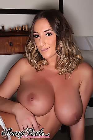 Stacey Poole with the boobs out