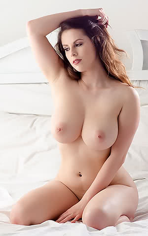Nicely Captured Busty , Pink nipples , White Girl