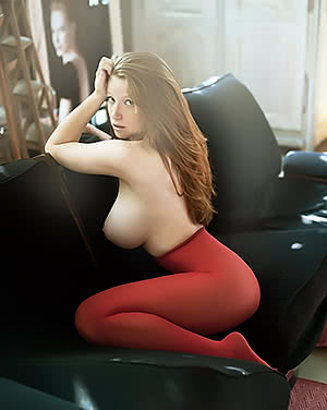 In the sofa