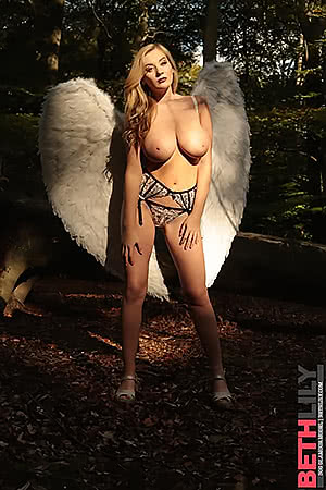 Beth Lily with angel wings