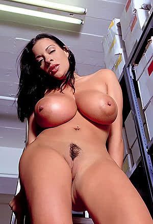Linsey Dawn Mckenzie in the warehouse