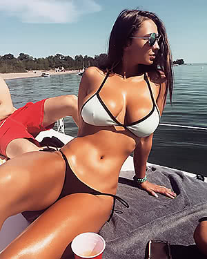 Busty On A Boat