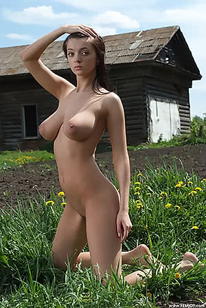 Slender with big boobs