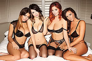 Holly Peers, Danielle Sharp, Lucy Collett, and Stacey Poole