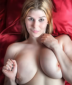 Ample breasts.