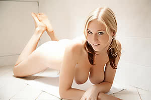 Blonde Pigtailed Beauty