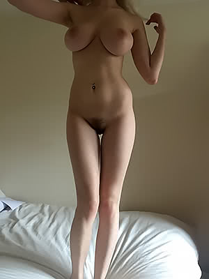 Standing on the bed
