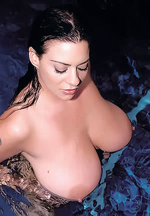 Linsey Dawn Mckenzie in the pool